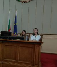 Ученици в Народното събрание